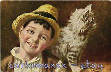 Gatti Cats Chats Katzen - Bambino Child Enfant Kind - Non Viaggiata - G144