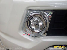 CHROME COVER FOG SPOT LIGHT LAMP TRIM LH+RH FOR MITSUBISHI L200 TRITON 2015 2016
