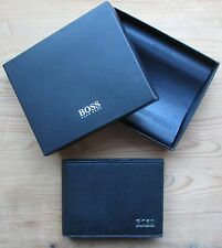 Hugo BOSS Men's Black Leather Wallet 'Mesul' Tri-fold, New Style 50305581