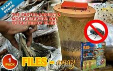 FLIES AWAY FLY TRAP INSECT MOSQUITO PEST CATCHER WITH BAIT AS SEEN ON TV -NEW