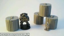 HC3D - Power Banks 30mm Tall - 4 Pack -Terrain & Scenery Fantasy WarGames SciFi