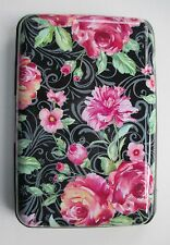 q Midnight floral CREDIT CARD HOLDER CASE rfid Identity theft blocker