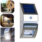 2 LED Solar Powered Motion PIR Light Sensor Garden Wall Lamp Stainless Steel #4