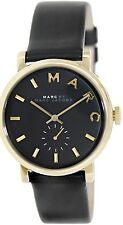 Marc by Marc Jacobs Women's Baker MBM1269 Black Leather Swiss Quartz Watch
