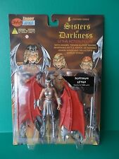 "LIGHTNING COMICS SISTERS OF DARKNESS ""PLATINUM LETHA"" 6""IN FIGURE SKYBOLT 1998"