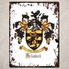 PP000063 FAMILY CREST Sign Vintage Rustic Home Restaurant Cafe Wall Decor