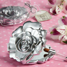 120 - Rose Design Mirror Compact Wedding Shower Favors