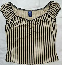 hot topic Cinderella fashion collection striped victorian top sz M