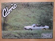 OPEL Ascona 1.8E Cabriolet Convertible brochure by Hammond & Thiede 1980s Cabrio