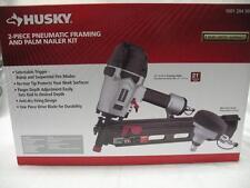 Husky 2-Piece 21 Degree Pneumatic Framing Air Nail Gun + Mini Palm Nailer Kit