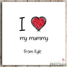 Personalised Mum Mummy Mother Mothers Christmas  Xmas Birthday Gift Present Card