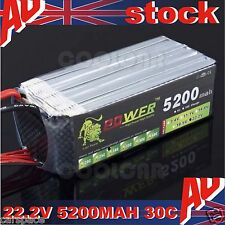 22.2V 5200MAH 30C Polymer lithiumion battery for Helicopter Aircraft RC Ship OZ
