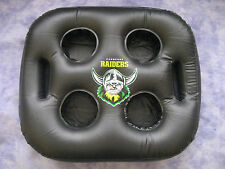 NRL CANBERRA RAIDERS INFLATABLE SEAT CUSHION/TRAY 38x31cm (Holds 4 cups) - NEW!