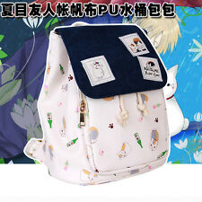 Anime Natsume's Book of Friends PU Printing Backpack School Bag Tote Bag Gifts