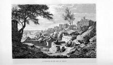 Stampa antica VERONA veduta panoramica dalla Fontana di Ferro 1877 Old print