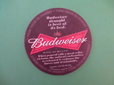Beer Coaster: Budweiser Draught Is Beer At It's Best ~ Anheuser Busch Brewing Co