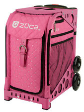 ZUCA Bag Pink Hot Insert & Pink Frame w/Flashing Wheels - FREE SEAT CUSHION
