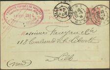 REIMS CARTE POSTALE PHARMACIE DU NORD-EST VELPRY & SANSON ENTIER POSTAL 1904