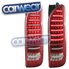 "LED BAR CLEAR LENS RED TAIL LIGHT TOYOTA HIACE VAN 04-14 "" VALENTI "" FULL LED"