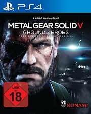PS4 Spiel Metal Gear Solid V 5 Ground Zeroes UNCUT!!! NEUWARE
