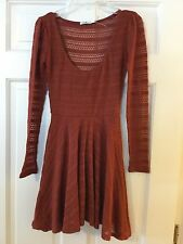 Urban Outfitters Kimchi Blue Terra Cotta Crochet Dress XS Extra Small