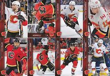 2015-16 Upper Deck Calgary Flames Complete Series 1 & 2 Team Set 14 Cards