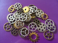 50 Metal Steam Punk Cog Gear Jewelry Beads for Raver Hipster Steampunk Findings