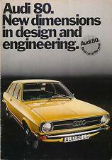 Audi 80 Mk 1 L S LS GL 1973-74 Original UK Sales Brochure No. 06520011000110