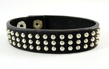 New Studded Leather Bracelet with Snap Closures By Mudd NWT #B1453