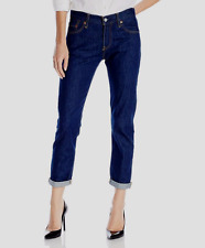 LEVI'S 501 WOMEN SIZE 32X32 STRAIGHT BUTTON JEANS RINSE RAPIDS NWT