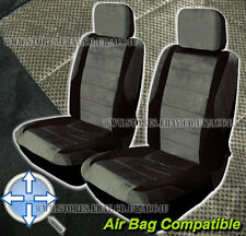 Car Grey Black Air Bag Suitable Compatible Front Seat Covers Set Pair