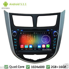 Quad Core Android 5.1 Car DVD Player Radio GPS For HYUNDAI Verna Accent Solaris