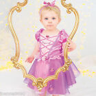 GIRLS BABY TODDLER DISNEY PRINCESS RAPUNZEL FAIRYTALE FANCY DRESS COSTUME OUTFIT
