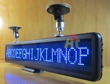Car Blue LED Programmable Message Sign Moving Scrolling Display board Panel 21""