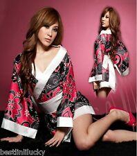 Vintage Japanese kimono Floral silk robe Dress women Yukata Geisha Haori Blouse