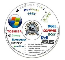 Windows Vista Business 64-Bit Re Install Repair Recovery Boot DVD Disc Disk