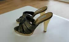New Dune High Heeled Mules - Gold, Size 4