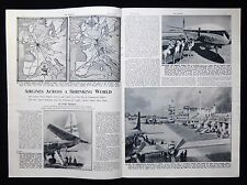 COMMERCIAL AIRLINES CIVIL AVIATION BOAC COMET NORTHOLT AIRPORT BEA ETC 4pp 1952