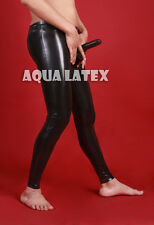 Man's Rubber Tight Trousers with Penis Sheath Sexy Latex Pants (Free Shipping)