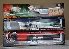STAR WARS - ELECTRONIC LIGHTSABER - LOT OF 3 - LUKE / DARTH VADER / YODA