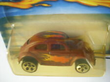HOT WHEELS VW BUG BROWN W/ FLAME GRAPHICS 175 5 HOLE 2001