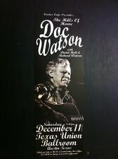 Doc Watson Rare Original Limited Ed Cactus Cafe Texas Bluegrass Concert Poster