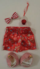 Build-A-Bear Rudolf the Red Nose Reindeer Clothing Set -- Shorts, Shoes, Bow-Tie