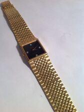 VINTAGE WITTNAUER GOLD TONE MEN'S Quartz WRISTWATCH 1970s Bling