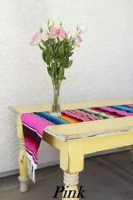 "Mexican Serape Blanket Table Runner 72"" by 12"".  Many colors to choose from"