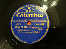 "THOMAS BEECHAM ""Voices Of Spring"" Waltz ""Fruhlingsstimmen"" Strauss 78rpm 12"" EX"