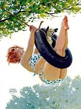 Hilda and dog with tire swing Duane Bryers
