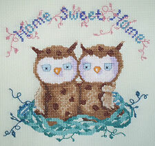 KL99 Home Sweet Home Owl Counted Cross Stitch Kit by Genny Haines