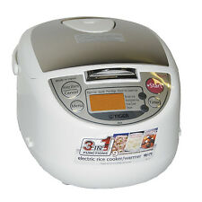 TIGER JAPAN MICROCOMPUTER 3-IN-1 RICE COOKER WARMER STEAMER JBA-T10U  5 CUP