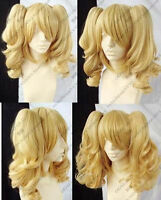 HOT! NEW blonde mixed COSPLAY Split -Type WIG and with 2 pig-tails P001